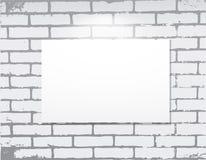 Empty frame on a brick wall.  Art gallery. Vector illustration Stock Photo