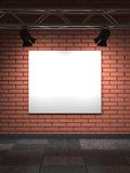 Empty Frame on Bricks Wall. Stock Photos