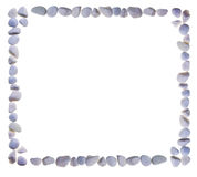 Empty frame combined from stones Royalty Free Stock Photos