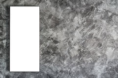 Empty frame on concrete wall Royalty Free Stock Photography