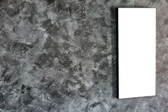 Empty frame on concrete wall Royalty Free Stock Images
