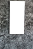 Empty frame on concrete wall Royalty Free Stock Photo