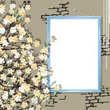 Empty frame with flowers Royalty Free Stock Image