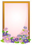 An empty frame with flowers Stock Photography