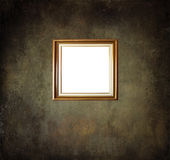 Empty frame on grunge room wall Royalty Free Stock Photo