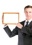 Empty frame in hands Royalty Free Stock Photography