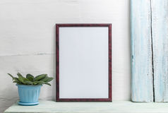 Empty frame for an inscription stock image