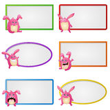Empty frame with little monster character illustration Royalty Free Stock Images