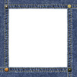 Empty frame made of blue denim Stock Photo