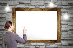 Empty frame of painting Stock Photo