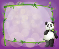 An empty frame with a panda Stock Photography
