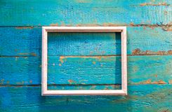 An empty frame for photos and images of white color stock photo