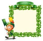 An empty frame for St. Patrick's day Royalty Free Stock Photos