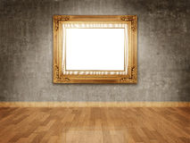 Empty frame on wall Royalty Free Stock Images