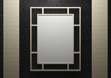 Empty frame on the wall Royalty Free Stock Photo