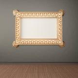 Empty frame on wall Stock Photos