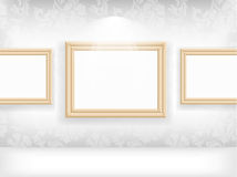 Empty frame on wall in gallerys Stock Photography