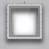 Empty frame on the wall for a picture or photo. Royalty Free Stock Photography
