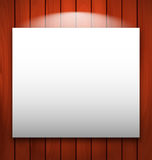 Empty frame on wooden with light Royalty Free Stock Image