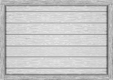 Empty frame of wooden white boards royalty free illustration