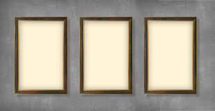 Empty frames of exhibition Stock Images