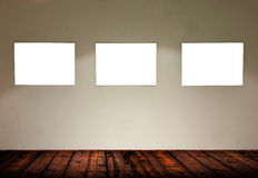Empty frames in gallery room Stock Image