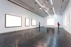Empty Frames In Museum Stock Photography