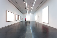Empty Frames In Museum Royalty Free Stock Photo