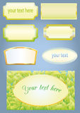 Empty frames for labels Stock Photo