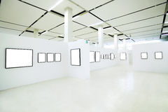 Empty frames in the museum Royalty Free Stock Images