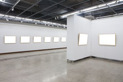 Empty frames in museum Stock Photos