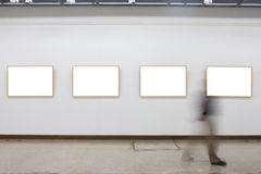 Empty frames in museum Stock Photo