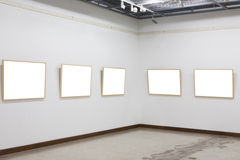 Empty frames in museum Stock Image