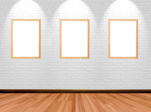 Empty frames on room background Stock Photography