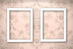 Empty frames on the Vintage background Stock Images