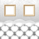 Empty frames, vintage couch Royalty Free Stock Photography