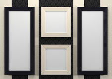 Empty frames on wall Stock Photos