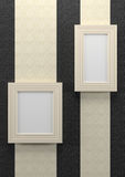 Empty frames on wall Royalty Free Stock Photo