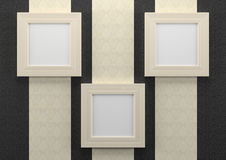 Empty frames on wall Stock Images
