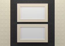Empty frames on wall Stock Image
