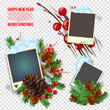 Empty frames on the wall. Vector illustration. Eps 10 Royalty Free Stock Photo