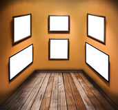 Empty frames on the walls Stock Image
