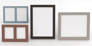 Empty frames of wenge wood Stock Images
