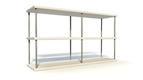 Empty Freestanding Shelf Stock Photo