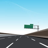 Empty Freeway Royalty Free Stock Photo
