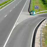 Empty freeway road Royalty Free Stock Photography