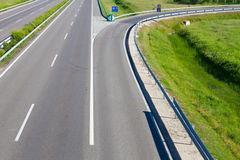Empty freeway road Royalty Free Stock Photo