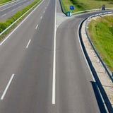 Empty freeway road Stock Photo