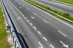 Empty freeway road Stock Photos