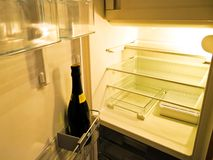 Empty fridge. Royalty Free Stock Photography
